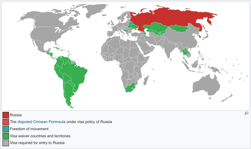 Russian Visa exemption countries
