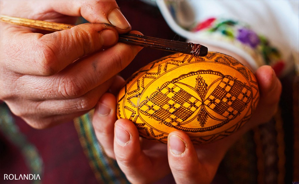 Romanian dyed eggs