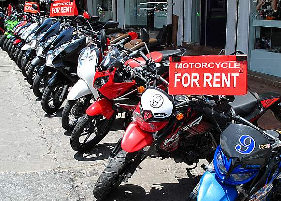 Motorcycles for hire in Pattaya, Thailand